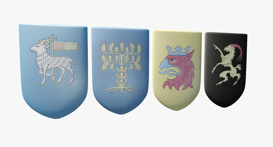 Escudo de armas royalty-free modelo 3d - Preview no. 1
