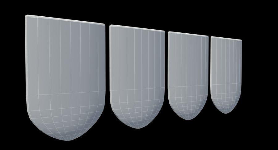 Escudo de armas royalty-free modelo 3d - Preview no. 6
