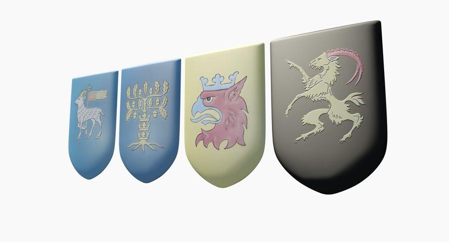 Escudo de armas royalty-free modelo 3d - Preview no. 3