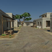 Sand Desert Village Game Environment Asset - First Person Shooter VR AR 3d model