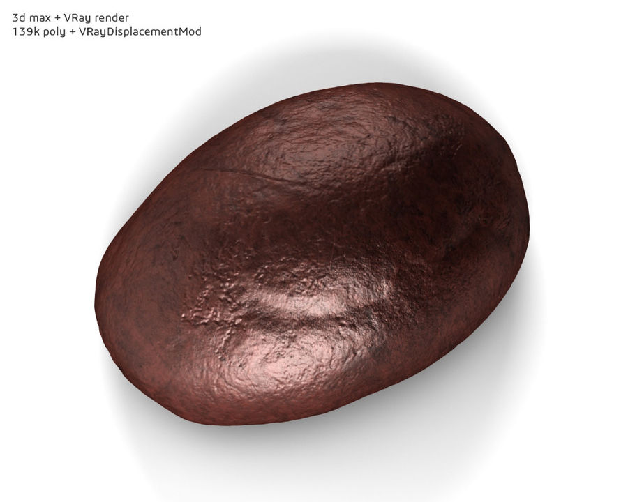 Coffee bean royalty-free 3d model - Preview no. 6