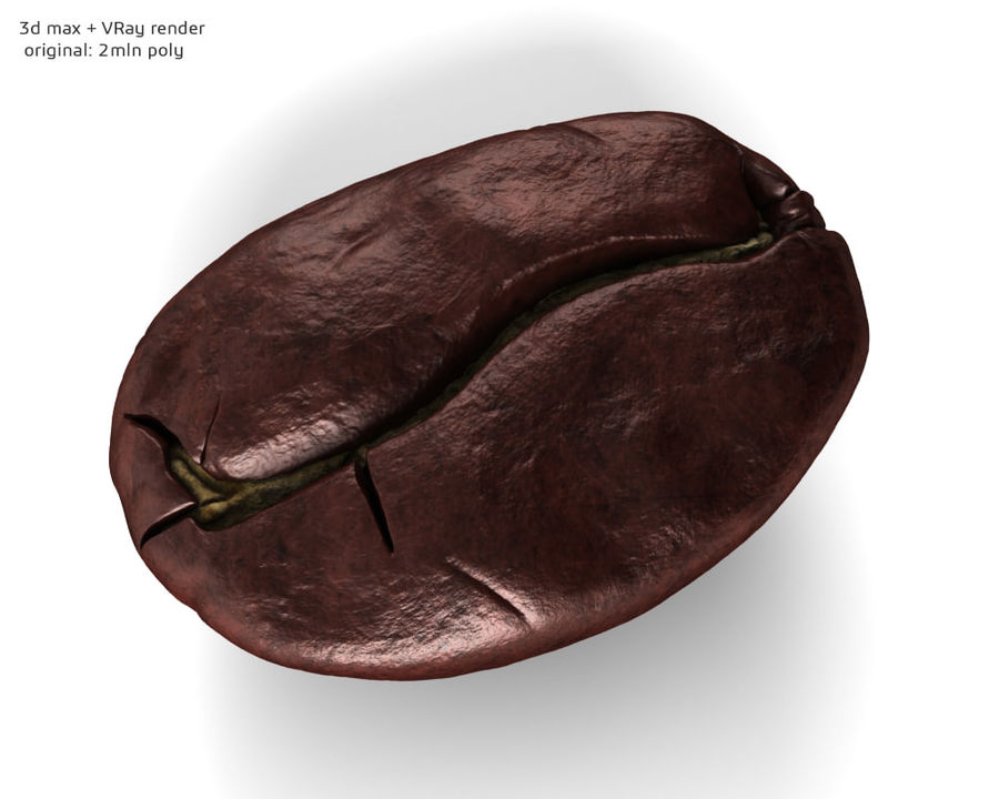 Coffee bean royalty-free 3d model - Preview no. 5