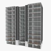 Wieża Zwesh Five z teksturowanym wnętrzem 3d model