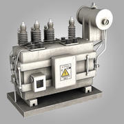 Substation Electrical Transformer 3d model