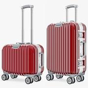 여행 가방 여행 Kingtrip 보통과 작은 빨강 3d model