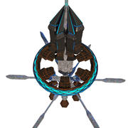 Alien Space Orbital 2 modelo 3d