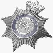 London Metropolitan Police Helmet Plate 3d model