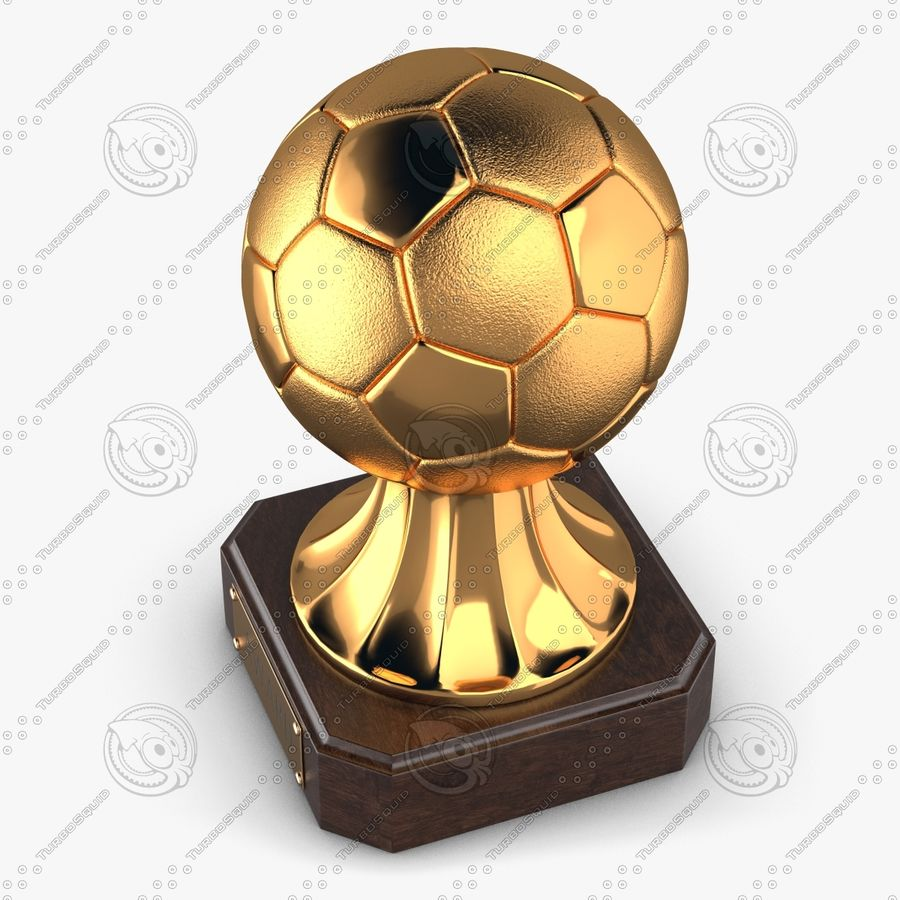 Gold Soccer Award Trophy royalty-free 3d model - Preview no. 4
