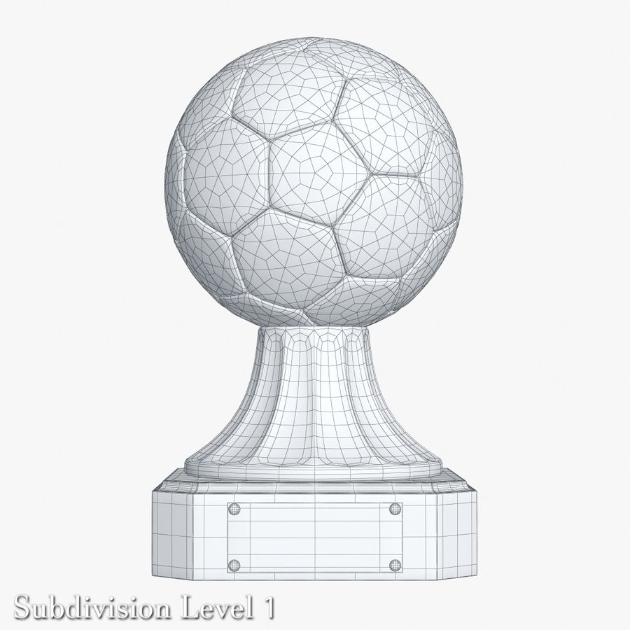 Gold Soccer Award Trophy royalty-free 3d model - Preview no. 10