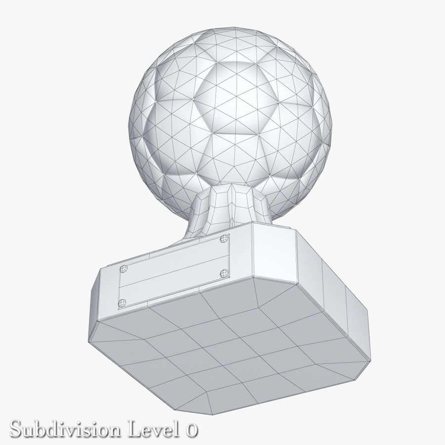 Gold Soccer Award Trophy royalty-free 3d model - Preview no. 5