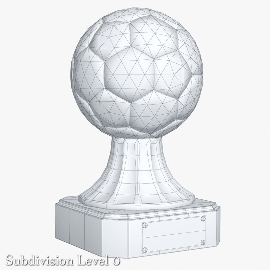 Gold Soccer Award Trophy royalty-free 3d model - Preview no. 7