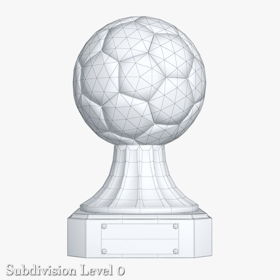 Gold Soccer Award Trophy royalty-free 3d model - Preview no. 9