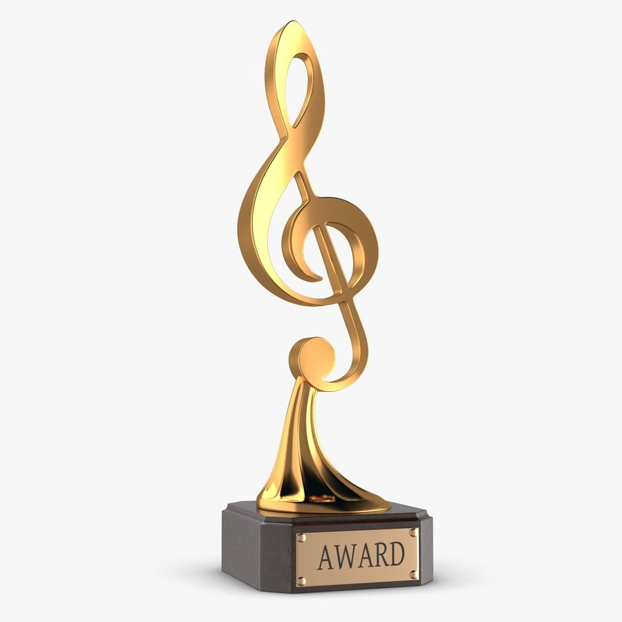 Troféu de música royalty-free 3d model - Preview no. 1
