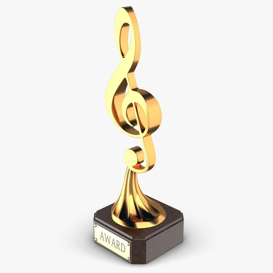 Troféu de música royalty-free 3d model - Preview no. 3