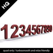 número suave modelo 3d