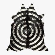 Cow Carpet Circular Painted #2 3d model