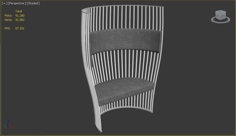 南海滩椅 royalty-free 3d model - Preview no. 13