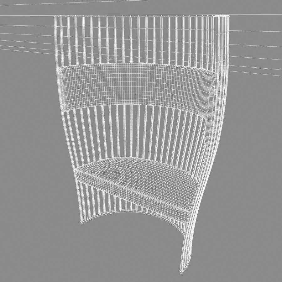 南海滩椅 royalty-free 3d model - Preview no. 12