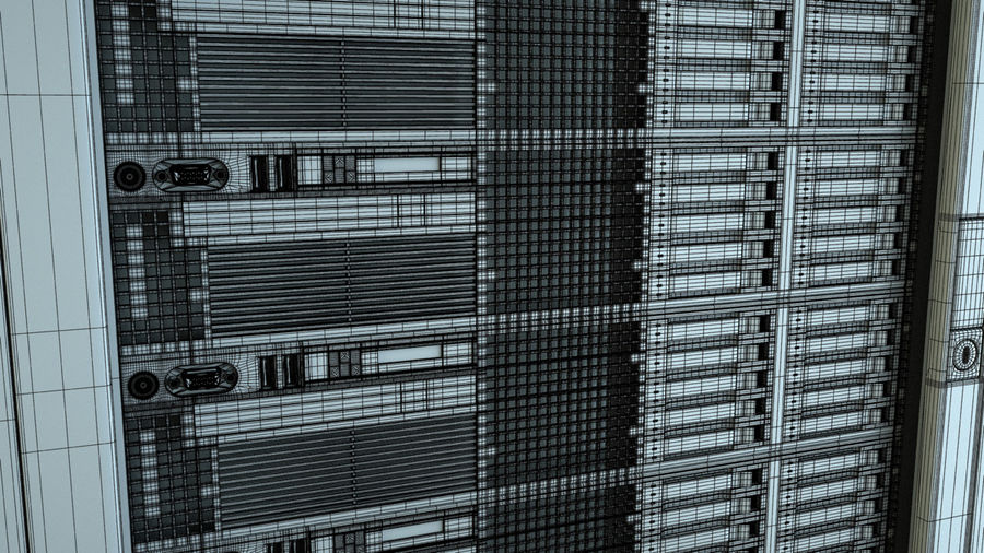 Server Rack royalty-free 3d model - Preview no. 6