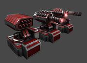 Torretas Torre de seguridad Enemigos. Balas láser y potencia de cohetes modelo 3d