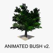 Animated Bush v2 3d model