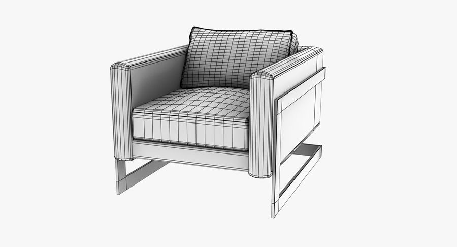 Arm Chair royalty-free 3d model - Preview no. 15