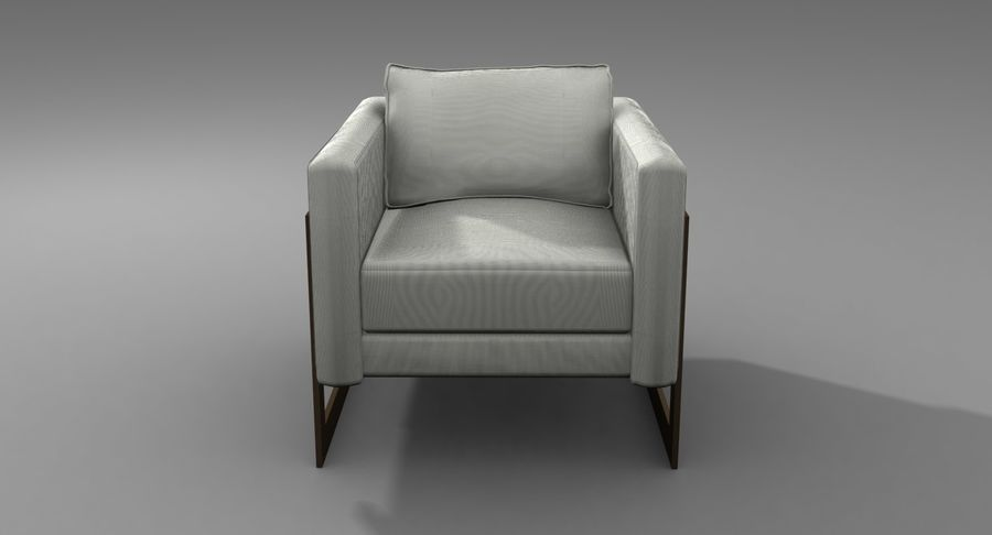 Arm Chair royalty-free 3d model - Preview no. 10