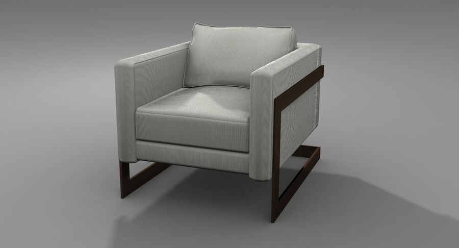 Arm Chair royalty-free 3d model - Preview no. 9