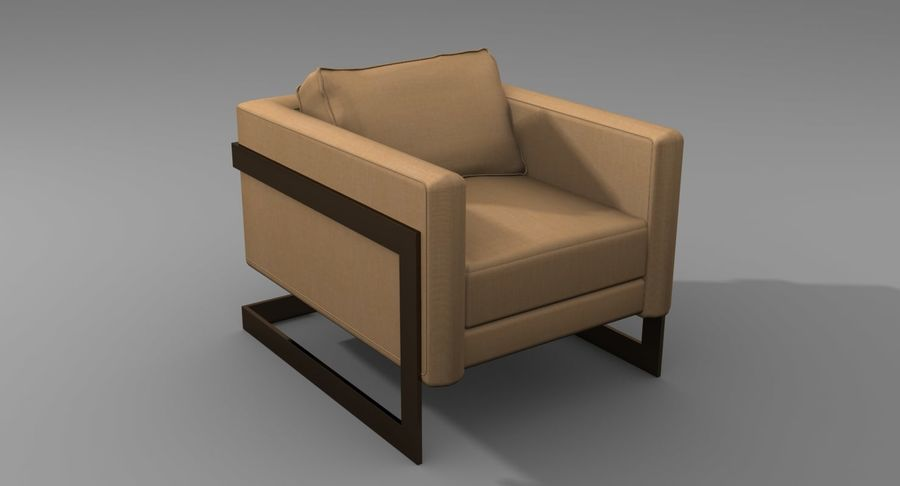 Arm Chair royalty-free 3d model - Preview no. 7