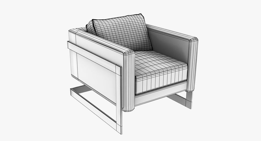 Arm Chair royalty-free 3d model - Preview no. 13