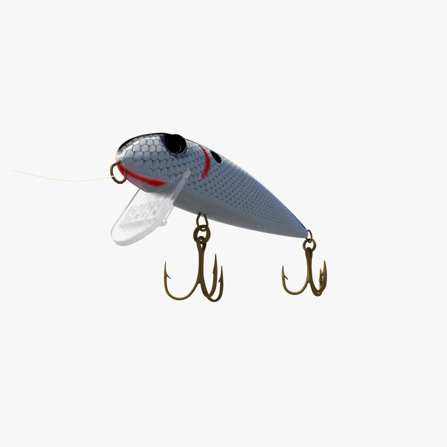 Rebel Fishing Lure royalty-free 3d model - Preview no. 1