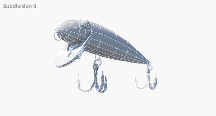 Rebel Fishing Lure royalty-free 3d model - Preview no. 4