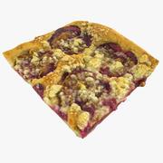 Plum Baked Piece of Pie 3d model