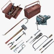 Mechanic Tools Set (Low-Poly) 3d model