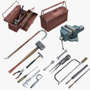Mechanic Tools Set (Low-Poly) 3d model
