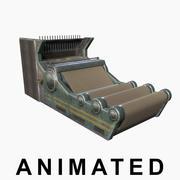 Máquina de costura animada 3d model