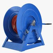 Шланг пожарного шланга 2 синий 3d model