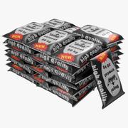 Cement Väskor Stack 3D-modell 3d model