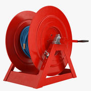 Fire Hose Reel 2 Red 3d model