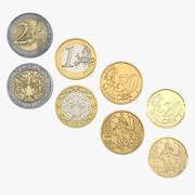 Franse euromuntenverzameling 2 3d model