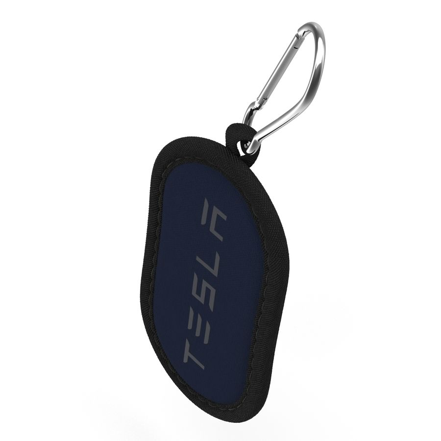 Tesla S Key Fob And Blue Cover royalty-free 3d model - Preview no. 16