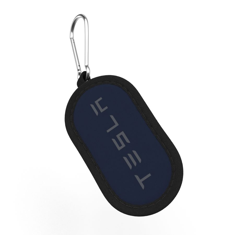 Tesla S Key Fob And Blue Cover royalty-free 3d model - Preview no. 15