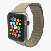 Apple Watch 38mm Magnetic Closure Stone Leather Loop 2 3D Model 3d model