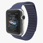 Apple Watch 38mm Magnetic Closure Blue Leather Loop 2 3D 모델 3d model