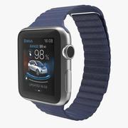 Apple Watch 38mm Magnetic Closure Blue Leather Loop 2 3D Model 3d model