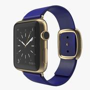 Корпус Apple Watch 38mm Gold с 3D моделью Midnight Blue с современной пряжкой 2 3d model