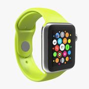 Apple Watch 38mm Fluoroelastomer Green Sport Band 2 3D Model 3d model