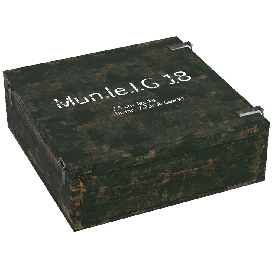 Ammo box royalty-free 3d model - Preview no. 7