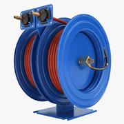 Fire Hose Reel 3 Blue 3d model