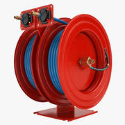 Fire Hose Reel 3 Red 3d model